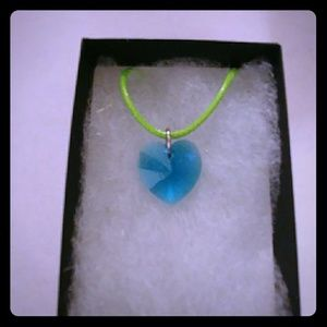 Jewelry - Aruba Turquoise Crystal Heart Necklace